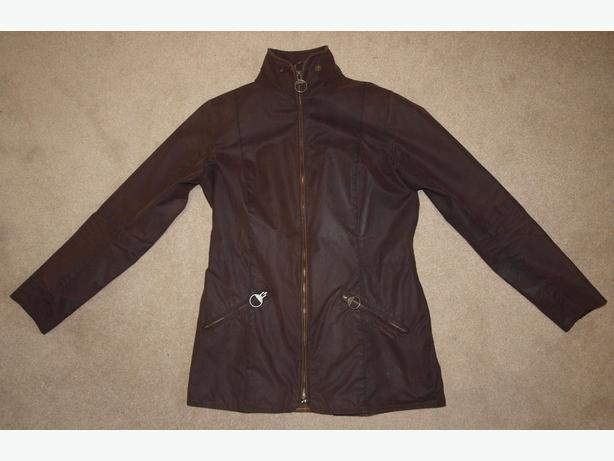 Barbour Ladies BRAMHAM Waxed Jacket in RusticBrown (USsize6)