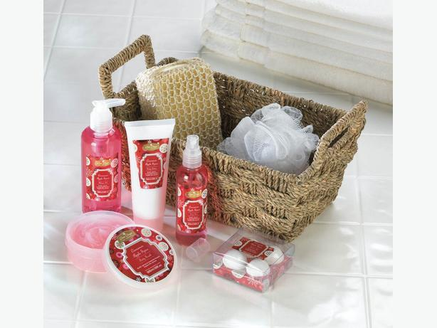 Bath & Body Gift Set Metal Caddy Reusable Basket Mixed Lot of 4 Different