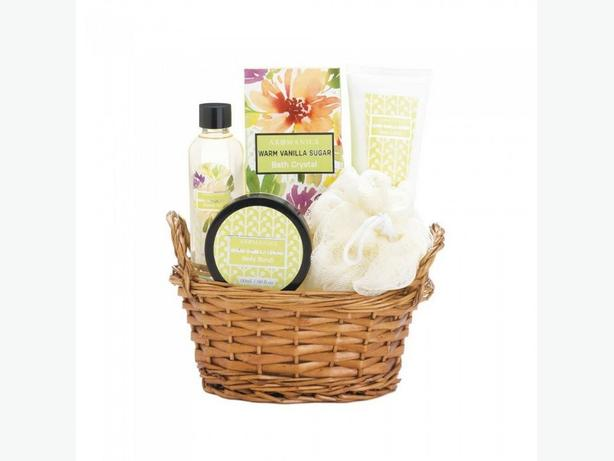 Warm Vanilla Sugar Spa Gift Basket Bulk Buy of 8