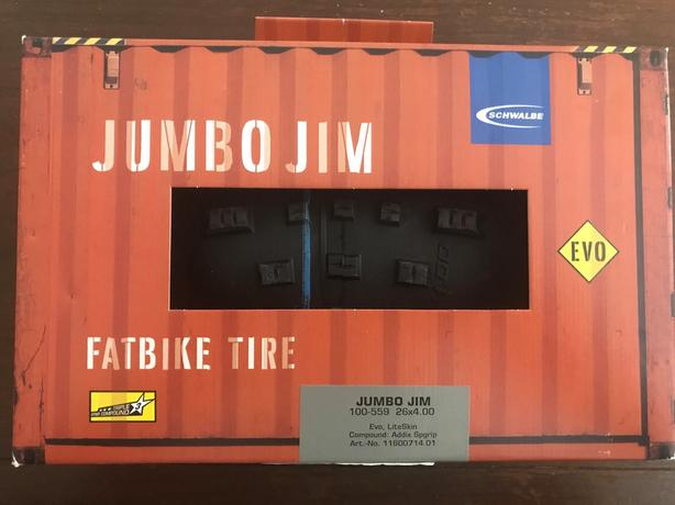 "Schwalbe Jumbo Jim 4"" fat Bike Tire"