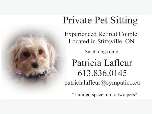 PRIVATE PET SITTER!