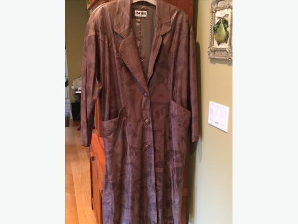 Leather coat - full length