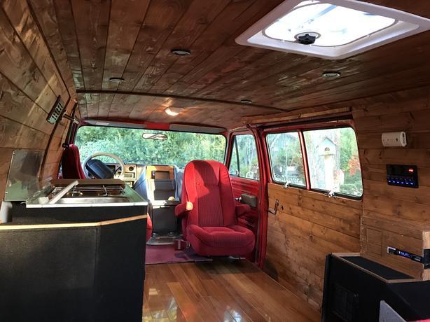 Chevy G20 Stealth Camper Diesel 145km North Saanich