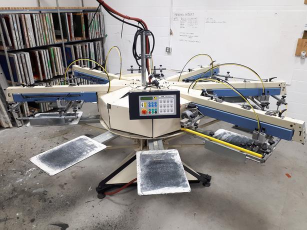 Auto Screen Printing Press - TAS - Model: HAWK C7E 928 6 Colour 8 Station