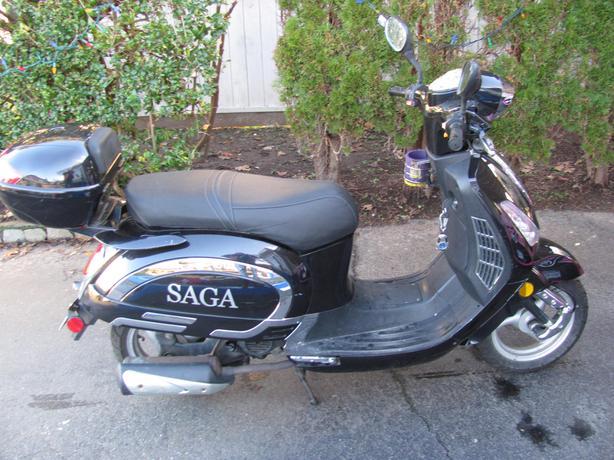 SAGA Black Gas powered Scooter