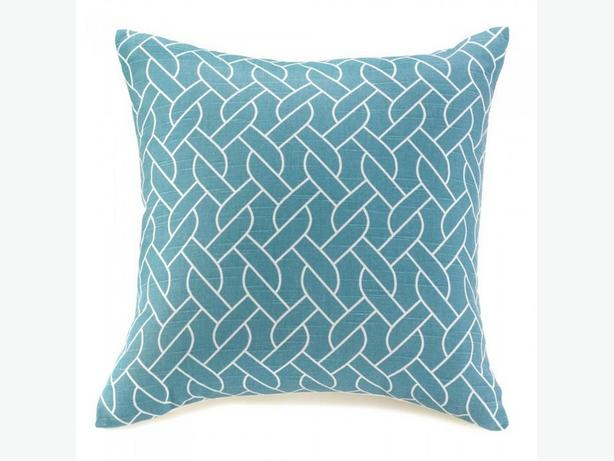 Modern Blue & White Accent Throw Pillow Set of 2 Sailor's Knot Brand New