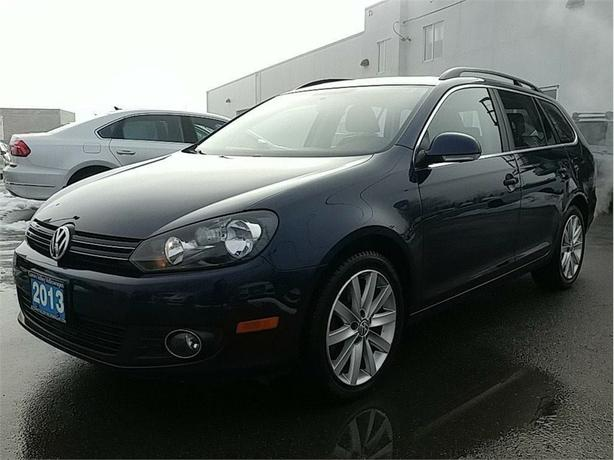 2013 Volkswagen Golf Sportwagon 2.0 Highline TDI DEISEL ! LEATHER !