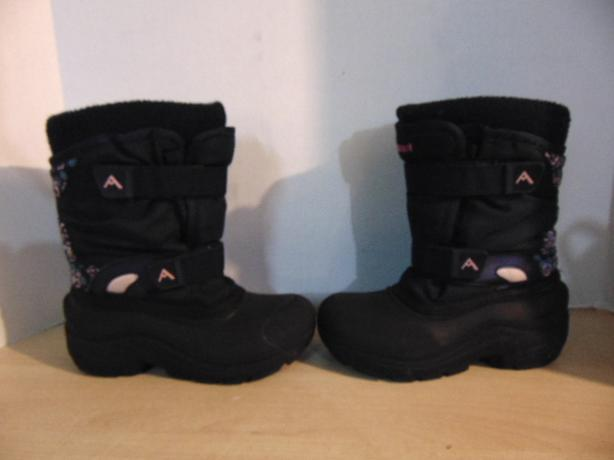 Winter Boots Child Size 2 Ascent Denim Blue Pink With Liner