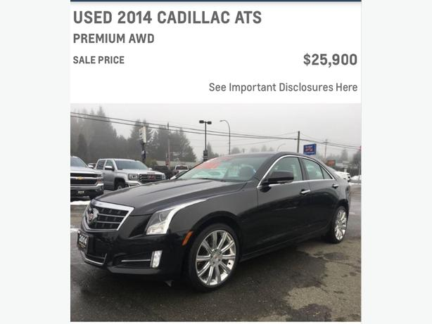 "ATS Cadillac. Call ""Les the CarGuy"" NOW on this 2014 Beauty"