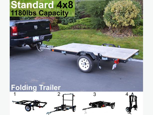 Utility Trailer - (Just fold and store) (Saskatoon)