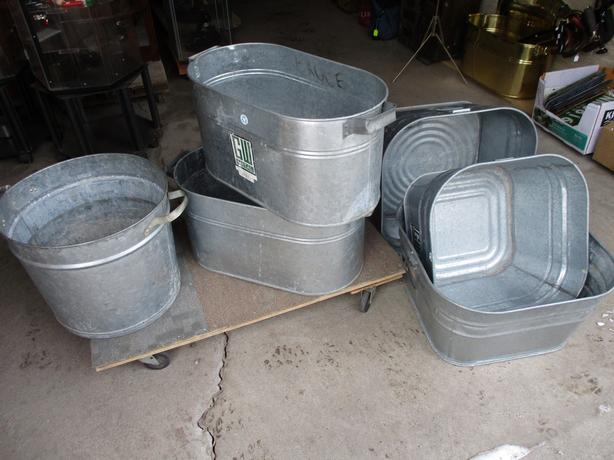 GALVAVIZED METAL TUBS FROM ESTATE