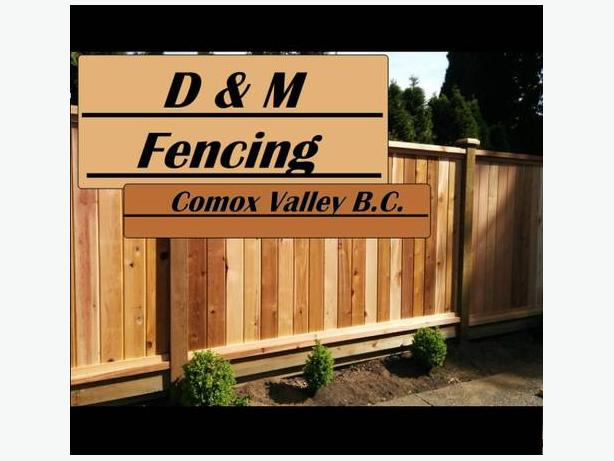 Fencing  in the Comox Valley
