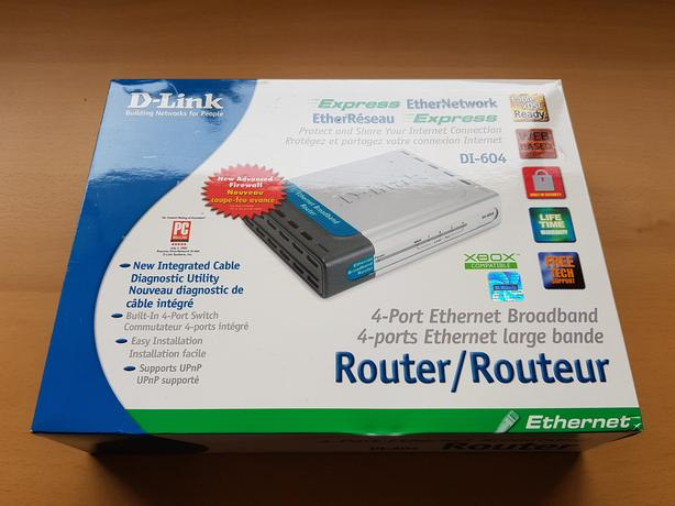 D-Link DI-604 Router (wired) with 4-port switch