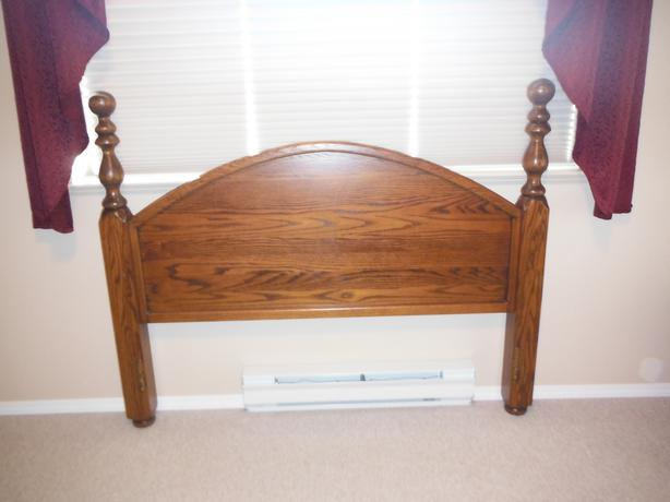 Solid 4 Poster Oak Bed Frame