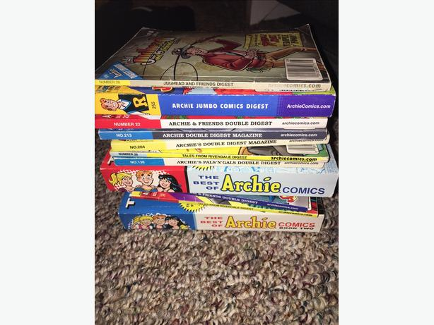 Stack of Archie Comic Books