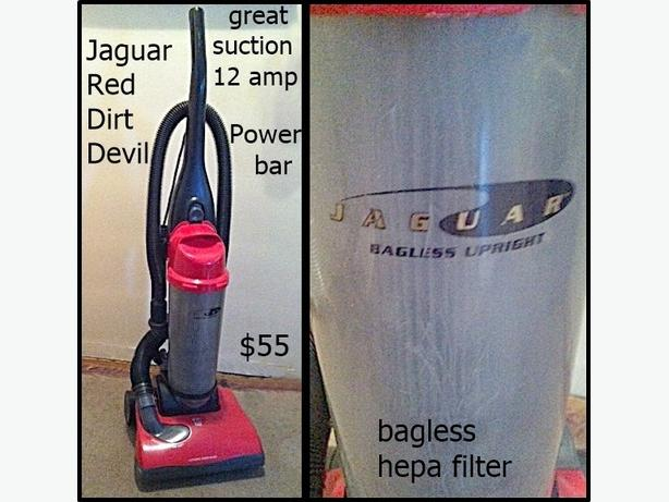 Dirt Devil Upright Bagless Vacuums 12 amp $55  (vehicle Vac $10)