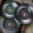 Iridescent Decorative Glass Plates with Scalloped Edge Lg&Sm 6PC Mixed Lot New