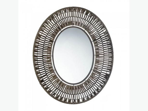 Faux Rattan Basket Weave Oval Wall Mirror Brand New