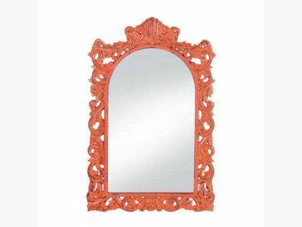 Home Decor Accents Wall Mirror & Vase 2PC Mixed Lot Brand New Orange