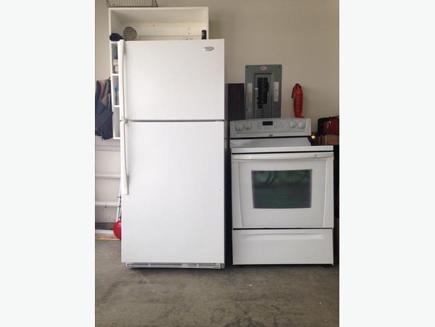 Whirlpool fridge and range
