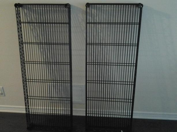 Black standard wire shelves from Solution store