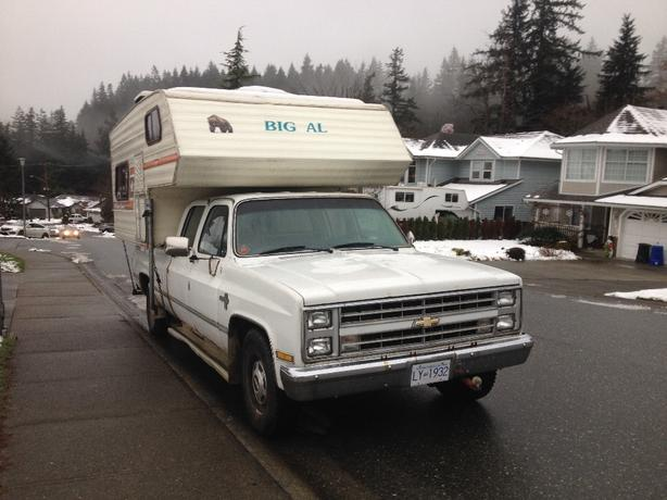 1985 chevy with camper