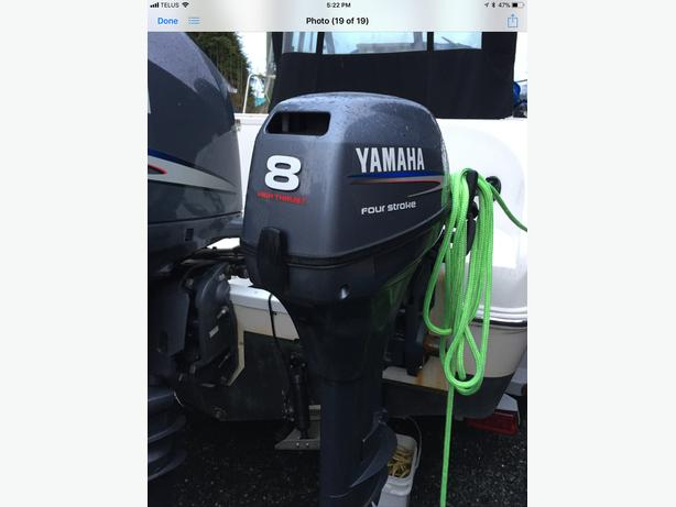 Yamaha 8 horse motor with controls