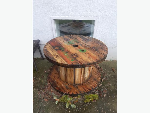 industrial wooden spool