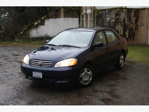 2003 toyota corolla ce reduced price central saanich. Black Bedroom Furniture Sets. Home Design Ideas