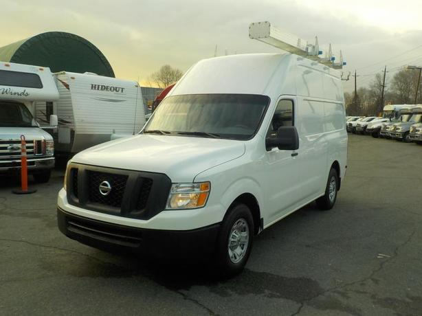 2012 Nissan NV 2500 HD V8 High Roof Cargo Van with Shelving & Roof Rack