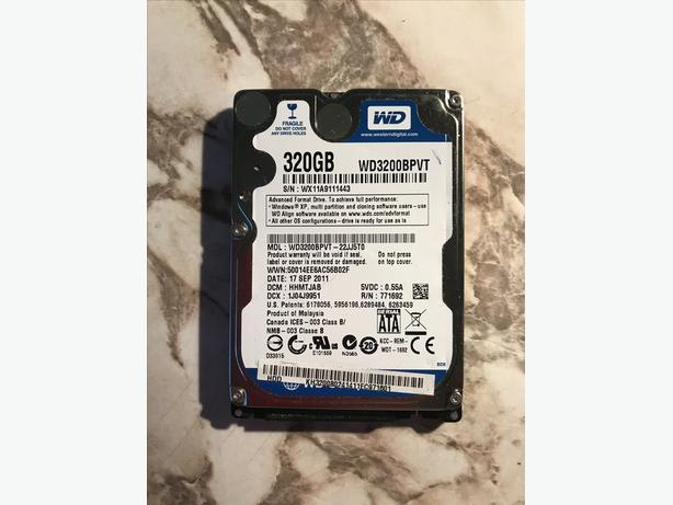 WD 2.5 inch hard drive