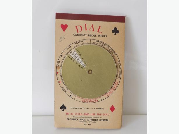 SCRAPBOOKERS! Dial Contract Bridge Score Pad Vintage 1933-1947