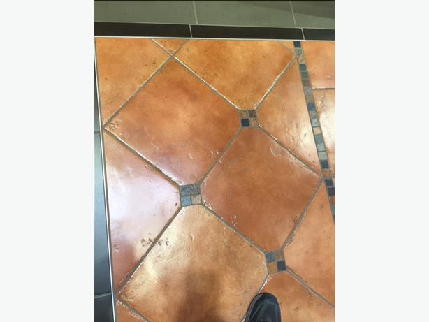 13 X 13 Porcelain Terra Cotta Colored Floor Tile Victoria City Victoria