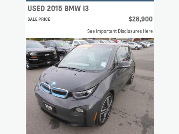 "BMW i3 Needs Electric Avenue Friend. Call ""Les the CarGuy"" Today!!!!"