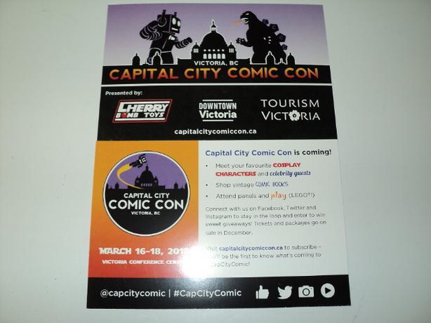 CAPITAL CITY COMIC CON March 16 - 18 Victoria Conference Centre