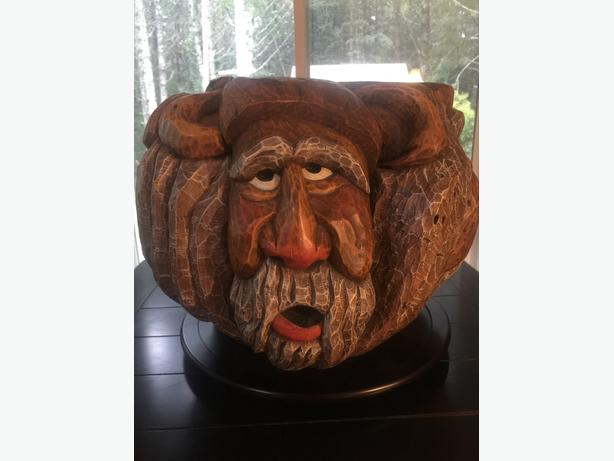 Rare Signed Carving Sculpture Mountain Spirits Over 60LBS