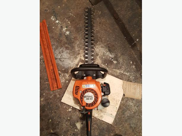 stihl HS45 hedge trimmer double sided blade