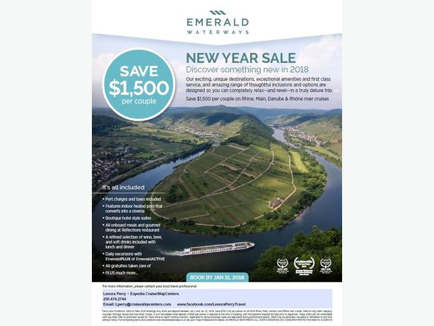 New Years Sale for RIVER CRUISES