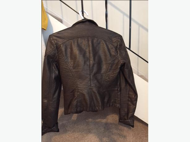 Like NEW! FREE PEOPLE Brown Leather Bomber