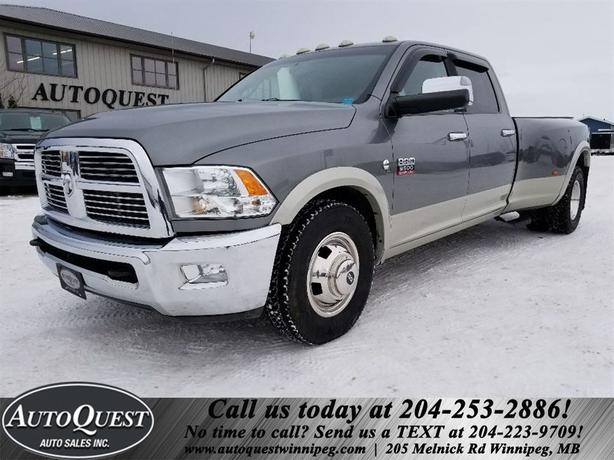 2010 Ram 3500 Laramie Dually - 6sp Manual, 6.7L Cummins Diesel!