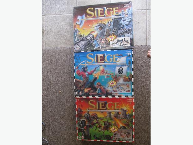 1994 Siege Game of Battle Action. THREE DIFFERENT! Bilingual.