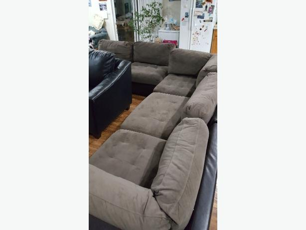 Microfiber 6 pc sectional