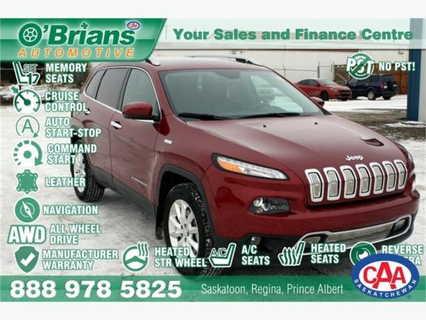 2016 Jeep Cherokee Limited w/Mfg Warranty