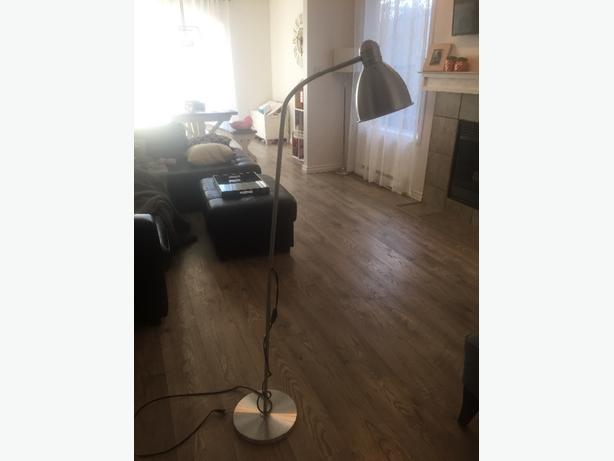 Silver stand up lamp