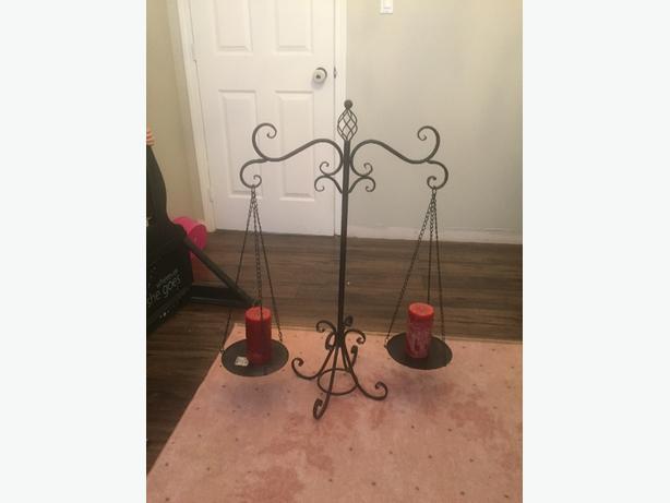 Large wrought iron candle holder