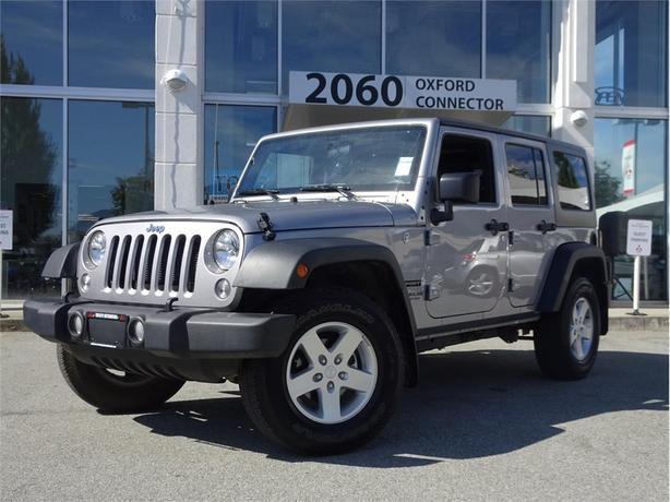 2016 Jeep Wrangler UNLIMITED SPORT 4X4 HARDTOP WITH A/C