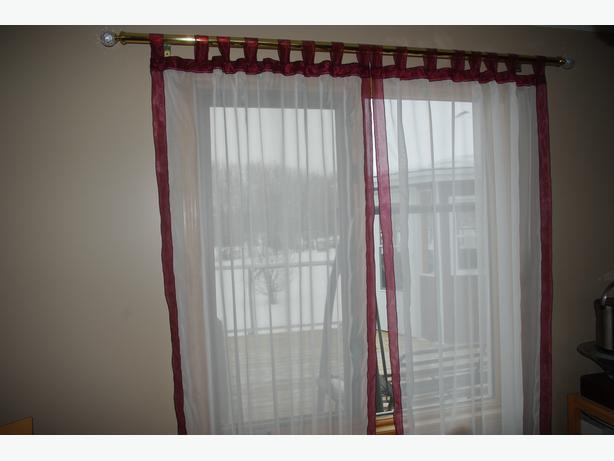Sheer window coverings, drapes, curtains for dining/living room