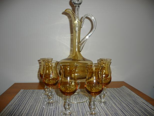 Vintage gold colour Decanter Set
