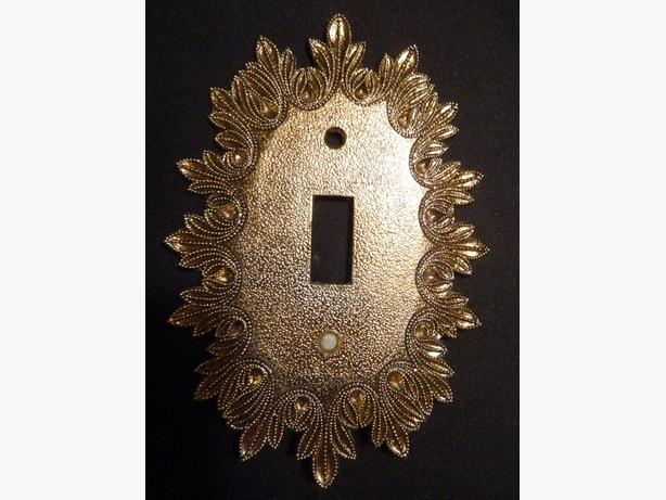 light switch plate cover oval Vintage