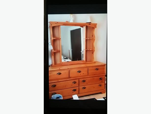Large 7 Drawer Dresser with Mirror